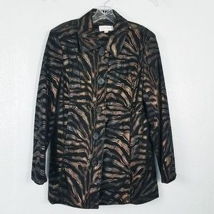 Erin London Copper Tiger Claw Women's Jacket Coat